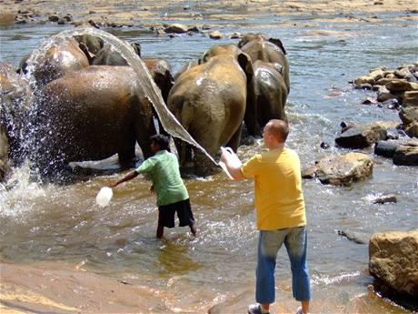 Karel Voříšek na dovolené na Srí Lance