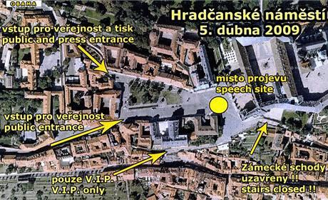 Hradčanské náměstí 5. dubna