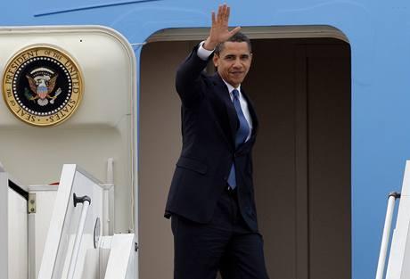Barack Obama odlétá z Prahy