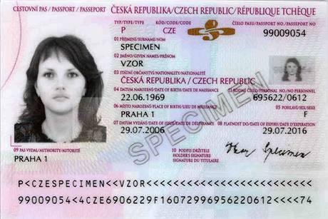 Cestovní pas s biometrickými údaji