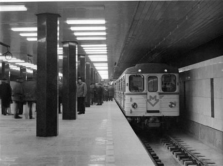 Zkušební jízda 29.12.1973 -stanice I.P. Pavlova