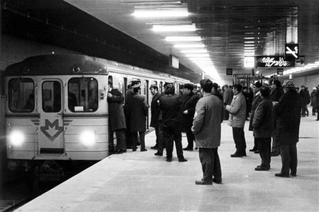 Zkušební jízda 2.1.1974 -stanice Sokolovská