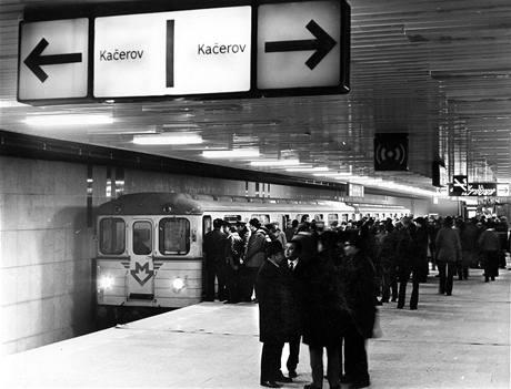 Zkušební jízda 2.1. 1974 -stanice Sokolovská