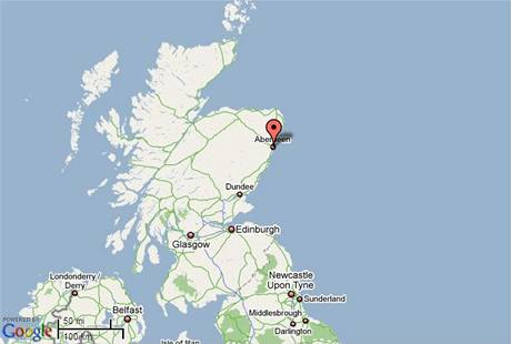 Mapa Skotska