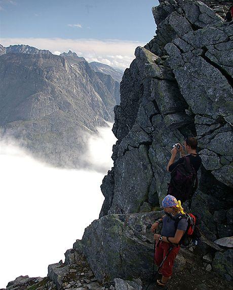 Norsko, údolí Romsdalen, túra na Trollvegen