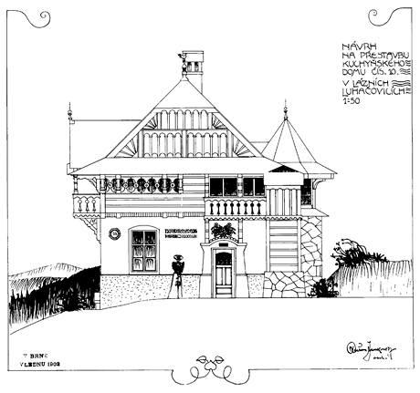 Návrh na přestavbu domu v Luhačovicích