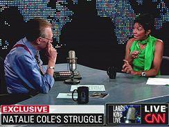 Natalie Coleová v talk show Larryho Kinga