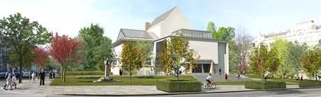Vizualizace rekonstrukce brněnského Domu umění