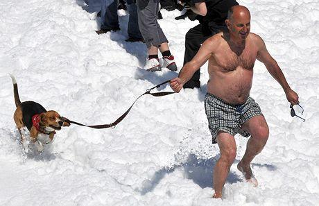 Soutěž letních lyžařů v Horních Mísečkách (11.4.2009)
