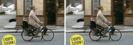 Jacques Tati na sporné fotografii s dýmkou