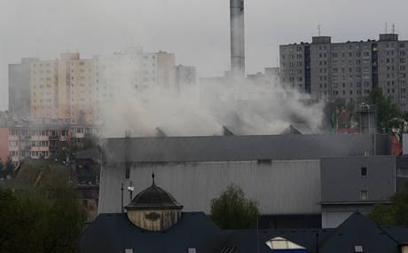 Požár v liberecké spalovně odpadu.