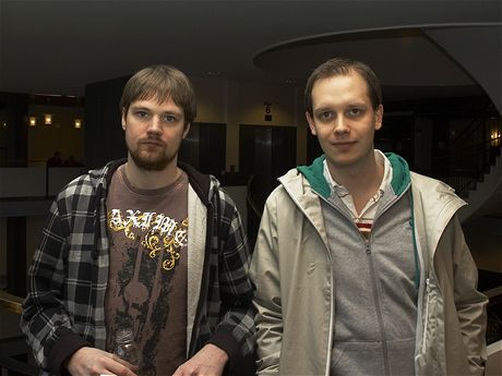 Fredrik Neij and Peter Sunde during TPB trial