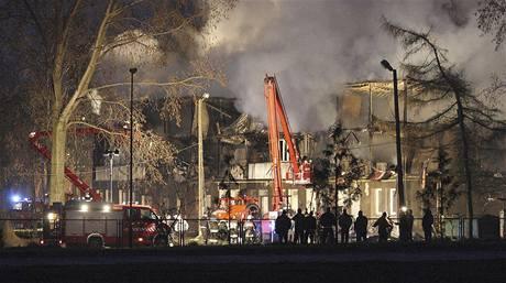 Požár ubytovny v obci Kamien Pomorski