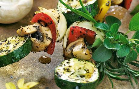 Grilované zeleninové špízy