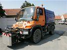 Blokové čištění v brněnských Tuřanech - metací vůz