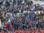 Demonstrace gruzínské opozice v Tbilisi; duben 2009.