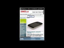 Nokia E75 - displeje (organizace a data)