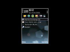 Nokia E75 - displeje (ovládání)