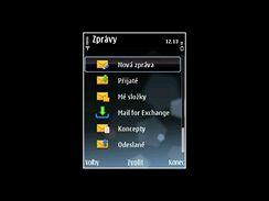 Nokia E75 - displeje (zprávy)