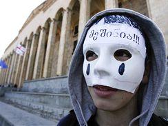 Demonstrace gruzínské opozice v Tbilisi