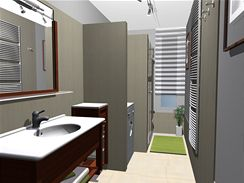 Rekonstrukce úzké koupelny