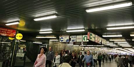 Podchod pod Hlavním nádražím v Brně.