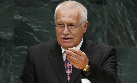 Prezident Václav Klaus hovořil o globálním oteplování také na půdě OSN; archivní snímek ze září 2007.