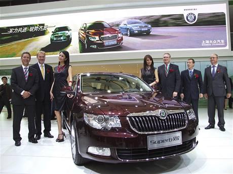 Škoda Superb Hao Rui se představuje na autosalonu v Šanghaji
