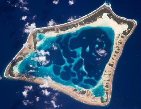Atol Atafu v jižním Pacifiku (leden 2009)