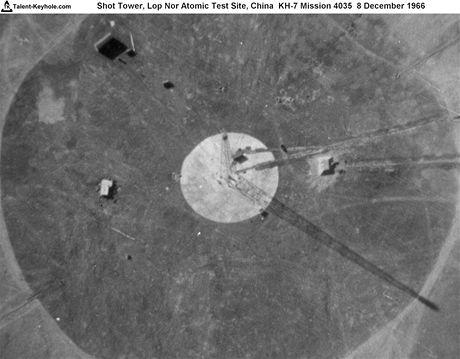 Atomová střelnice Lop-nor z americké špionážní družice