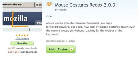 Mouse Gestures Redox