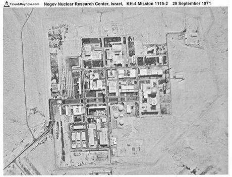 Snímek Dimony z amerického špionážní družice KH-4 z 29. září 1971