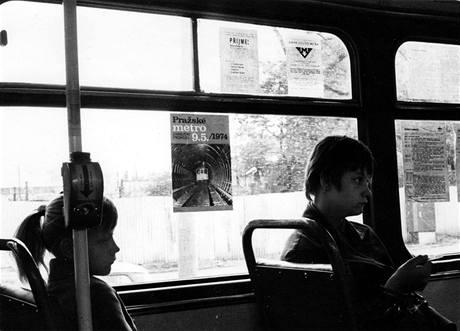 Letáčky v tramvaji