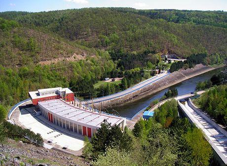 Hráz Dalešické přehrady