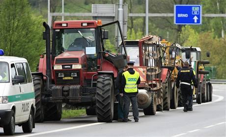 Protest zemědělců v Letovicích