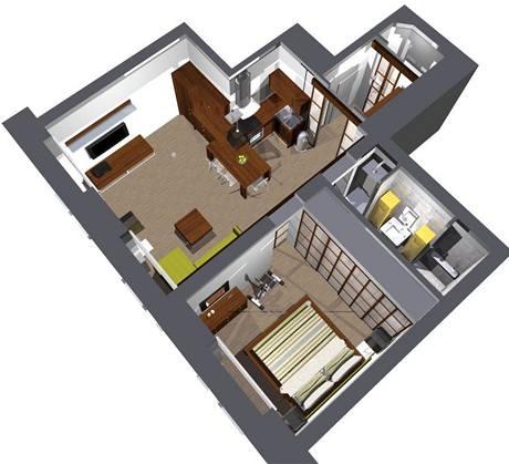 Proměna bytu 2+kk