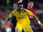 Barcelona- Chelsea, Bosingwa (vp�edu) a Messi.