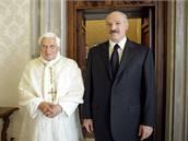 Alexandr Lukašenko se ve Vatikánu setkal s papežem Benediktem XVI.