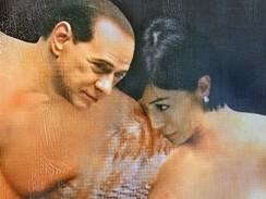 Filippo Panseca - Silvio Berlusconi a Mara Carfagnaová