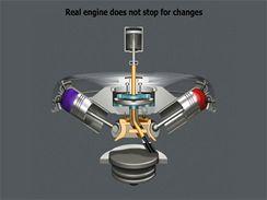 Motor Hefley s proměnným zdvihovým objemem
