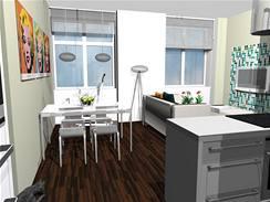 Umírněná rekonstrukce bytu 2+kk