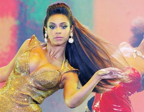 Zpěvačka Beyoncé přivezla nablýskanou show