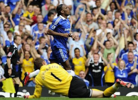 Cheslea - Fulham: Drogba se raduje z gólu