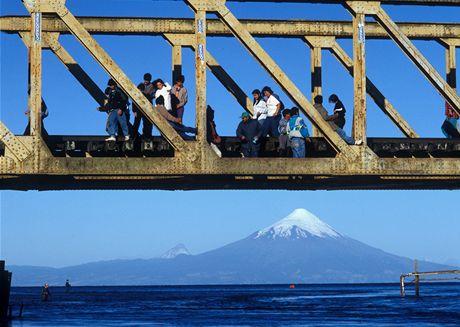 Z výstavy Život před objektivem - sopka Osorno v Chile