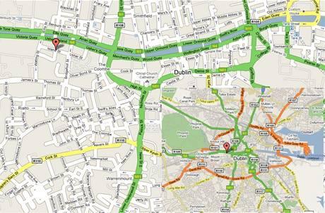 Mapa - Dublin