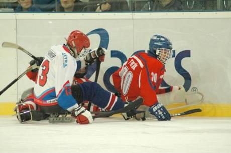 Sledge hokej - ilustrační foto