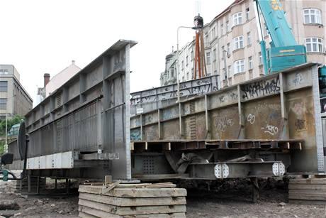 Demolice železničního mostu Malá Hrabovka