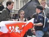 Pravicoví radikálové na 1. máje v Brně