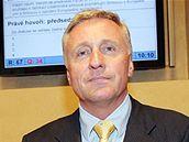 Mirek Topolánek v Senátu během projednávání Lisabonské smlouvy (6. května 2009)