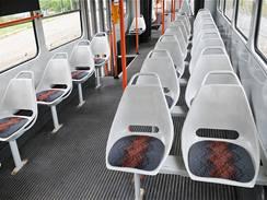 Interiér tramvaje K2